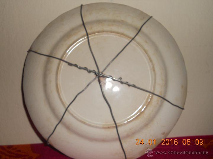 Antigüedades: ANTIGUO PLATO DE PORCELANA BRITT IROSTONE SAN CLAUDIO . - Foto 12 - 54408677