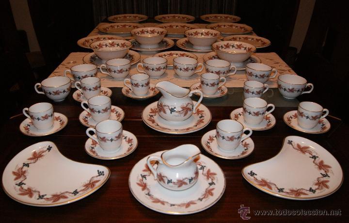 Vajilla de Porcelana Inglesa Royal Worcester Porcelain England The Dorchester Hotel Set Porcelain segunda mano