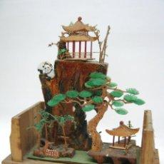 Antigüedades: BELLA MINIATURA DIORAMA CHINA CON OSOS PANDA. Lote 54420493