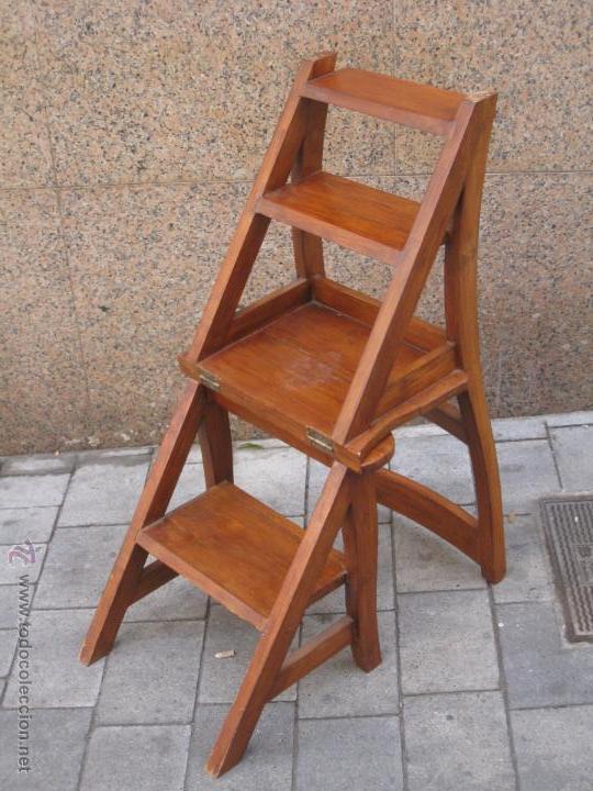 silla que se convierte en escalera