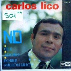 Discos de vinilo: CARLOS LICO / NO / ADORO + 2 (EP PROMO 1967). Lote 54429385