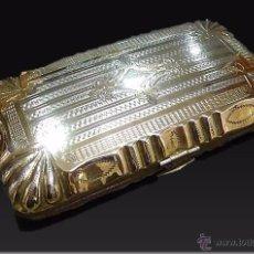 Antigüedades: ANTIGUO TARJETERO O CARNET DE BAILE EN PLATA Y ORO VERMEIL - SIGLO XIX. Lote 54432676