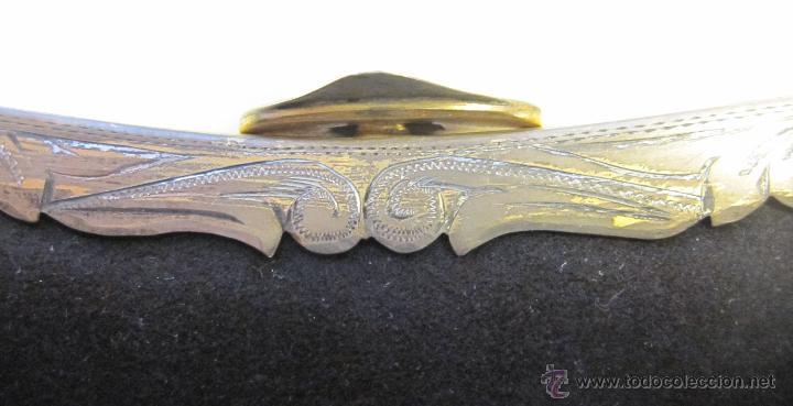 Antigüedades: ANTIGUO BOLSO DE MANO. NEGRO CON CIERRE DE METAL. 21 X 19 CM. INTERIOR DE SEDA - Foto 2 - 54438877