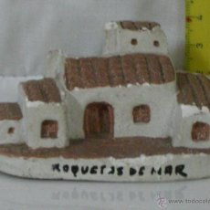 Antigüedades: CASA DE BARRO ARTESANA PINTADA A MANO *** ROQUETAS DE MAR ***. Lote 54442666
