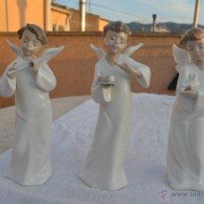 Antigüedades: LOTE DE TRES ANGELES NAO BY LLADRÓ, (02001259-02001260-02001261). Lote 54443404