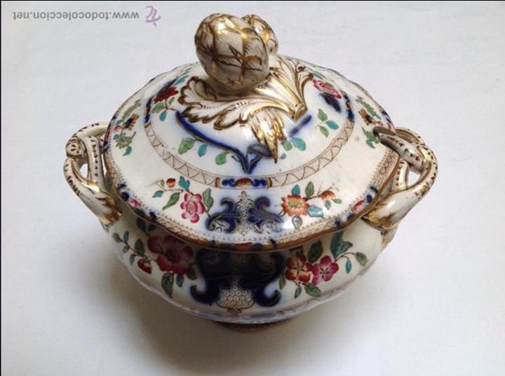 Sopera de loza inglesa estampada poca victori comprar - Porcelana inglesa antigua ...
