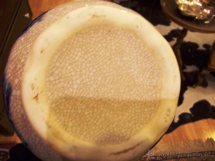 Antigüedades: preciosa JARRA GRANDE CON ASAS de 20cm ESTILO DELFt CRAQUELADO en perfecto estado - Foto 5 - 49502564