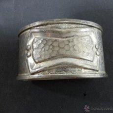 Antigüedades: ANTIGUO SERVILLETERO PLATEADO SIN INICIALES. Lote 54475039
