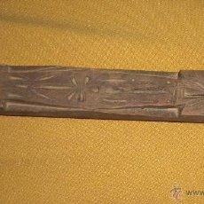 Antigüedades: ANTIGUO PALO TALLADO ARTE PASTORIL ALMADEN CIUDAD REAL. Lote 54479676