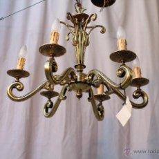 Antigüedades: LAMPARA DE TECHO EN BRONCE. Lote 54483309
