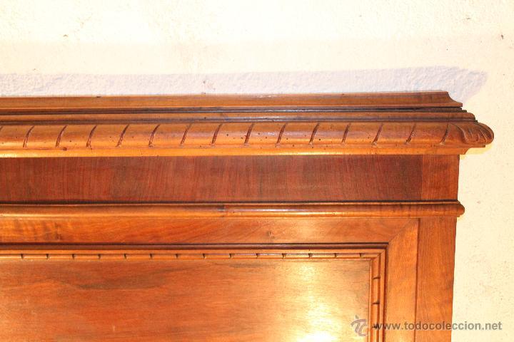 Antigüedades: Camas: Pareja de Cabeceros y Pareja de Pieceros de Nogal - Foto 3 - 54502094