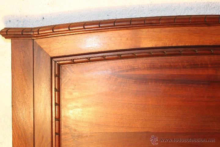 Antigüedades: Camas: Pareja de Cabeceros y Pareja de Pieceros de Nogal - Foto 7 - 54502094