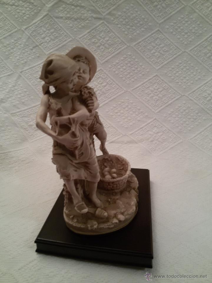 Antigüedades: FIGURA FIRMADA-PEANA DE MADERA-25 CM/22 CM SIN PEANA - Foto 7 - 54502380