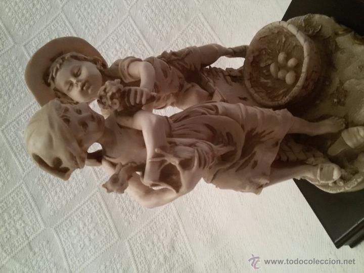Antigüedades: FIGURA FIRMADA-PEANA DE MADERA-25 CM/22 CM SIN PEANA - Foto 10 - 54502380