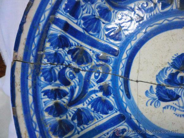 Antigüedades: ANTIGUO PLATO DE MANISES , 30 CM , LAÑADO - Foto 2 - 54511279