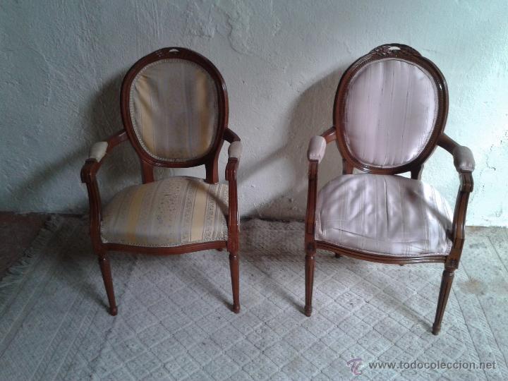 pareja de sillones estilo luis xvi silln luis xvi sillon isabelino antigedades muebles