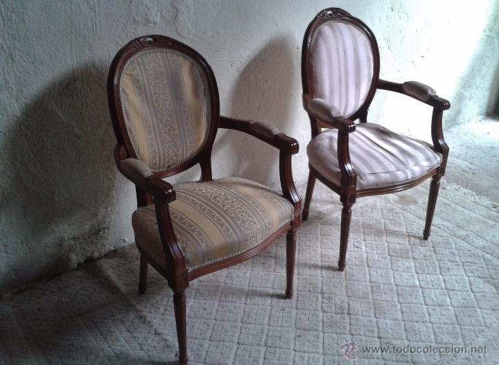 Pareja de sillones estilo luis xvi sill n luis comprar - Sillones de estilo ...