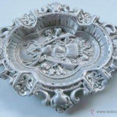Antigüedades: CENICERO ANTIGUO FUNDICION ALUMINIO. Lote 54528538