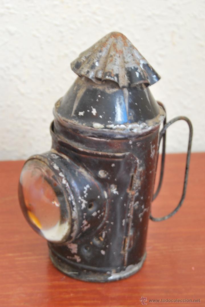 Antigüedades: PEQUEÑO FAROL FERROVIARIO - FAROLILLO TREN - LINTERNA - PP S.XX - Foto 2 - 54545131