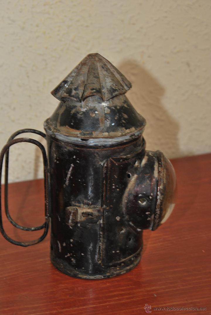 Antigüedades: PEQUEÑO FAROL FERROVIARIO - FAROLILLO TREN - LINTERNA - PP S.XX - Foto 3 - 54545131
