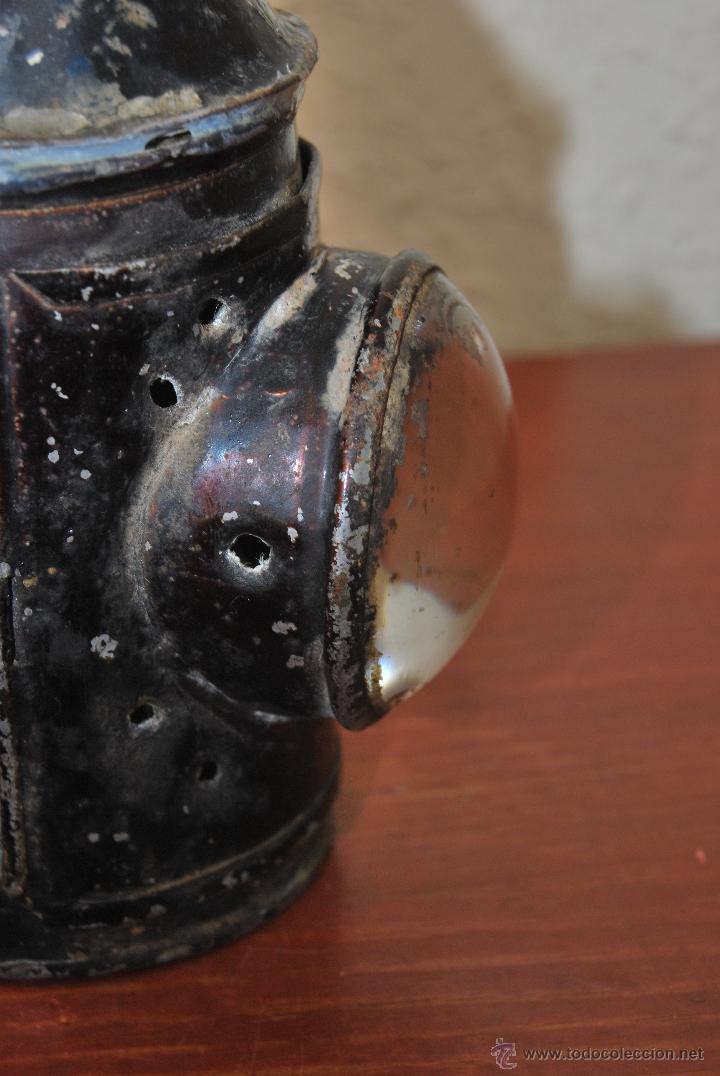 Antigüedades: PEQUEÑO FAROL FERROVIARIO - FAROLILLO TREN - LINTERNA - PP S.XX - Foto 4 - 54545131