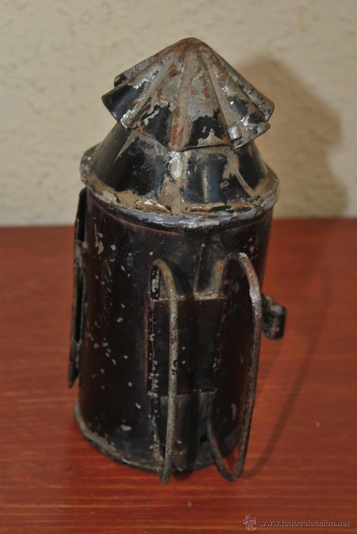 Antigüedades: PEQUEÑO FAROL FERROVIARIO - FAROLILLO TREN - LINTERNA - PP S.XX - Foto 5 - 54545131