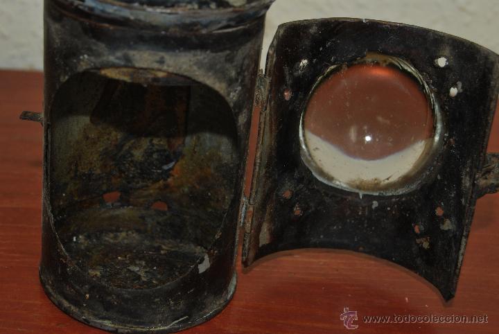 Antigüedades: PEQUEÑO FAROL FERROVIARIO - FAROLILLO TREN - LINTERNA - PP S.XX - Foto 7 - 54545131