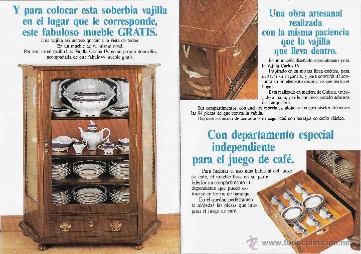 Antigüedades: MUEBLE - VAJILLA CARLOS IV EN PORCELANA DE BIDASOA - Foto 3 - 54555700