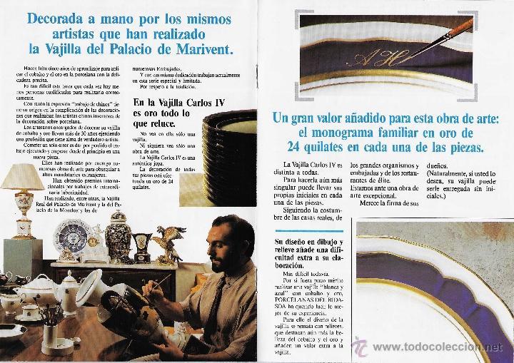 Antigüedades: MUEBLE - VAJILLA CARLOS IV EN PORCELANA DE BIDASOA - Foto 6 - 54555700