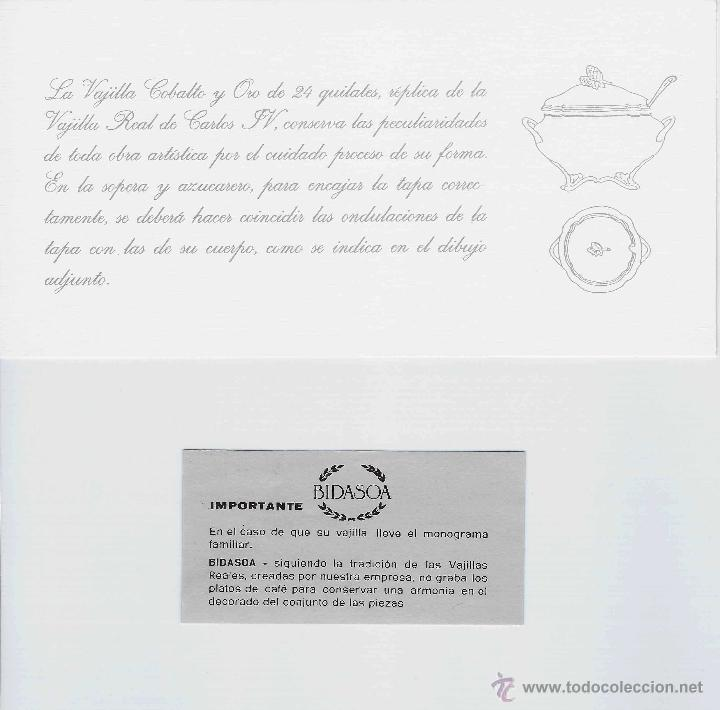 Antigüedades: MUEBLE - VAJILLA CARLOS IV EN PORCELANA DE BIDASOA - Foto 7 - 54555700