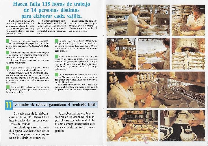 Antigüedades: MUEBLE - VAJILLA CARLOS IV EN PORCELANA DE BIDASOA - Foto 9 - 54555700