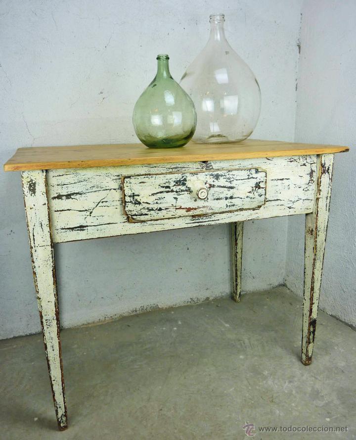 Mesa tocinera hecha a mano en madera de pino r comprar - Mesa de pino ...