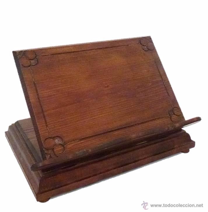 Atril para libros en madera noble comprar en todocoleccion 54565904 - Atril decoracion ...