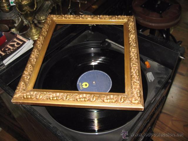 antiguo marco de madera dorado medida total 37 - Comprar Marcos ...
