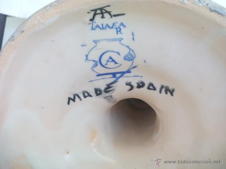 Antigüedades: Candelabro o portavelas de porcelana o cerámica de Talavera - Foto 10 - 54578791