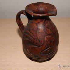 Antigüedades: BONITA JARRA DE CERÁMICA TALLADA.. Lote 54585871