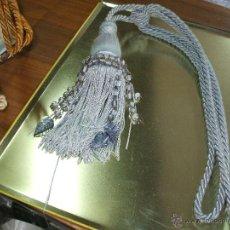 Antigüedades: CORDON CON BORLON DE PASAMANERIA Y PEDRERIA PARA CORTINAS O DECORACCION. Lote 54591057