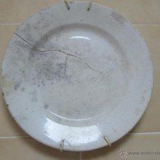 Antigüedades: PLATO ALEMAN VILLEROY BOCH ANTIGUO CON BONITA PATINA. Lote 54591579