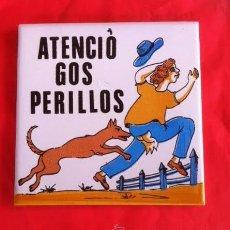 Antigüedades: BALDOSA AZULEJO CERÁMICA CATALANA ATENCIO GOS PERILLOS. Lote 54604877
