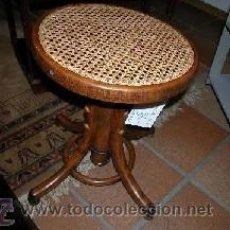 Antigüedades: SILLA - TABURETE DISEÑADO PARA PIANO DEL S.XVIII. Lote 54607820