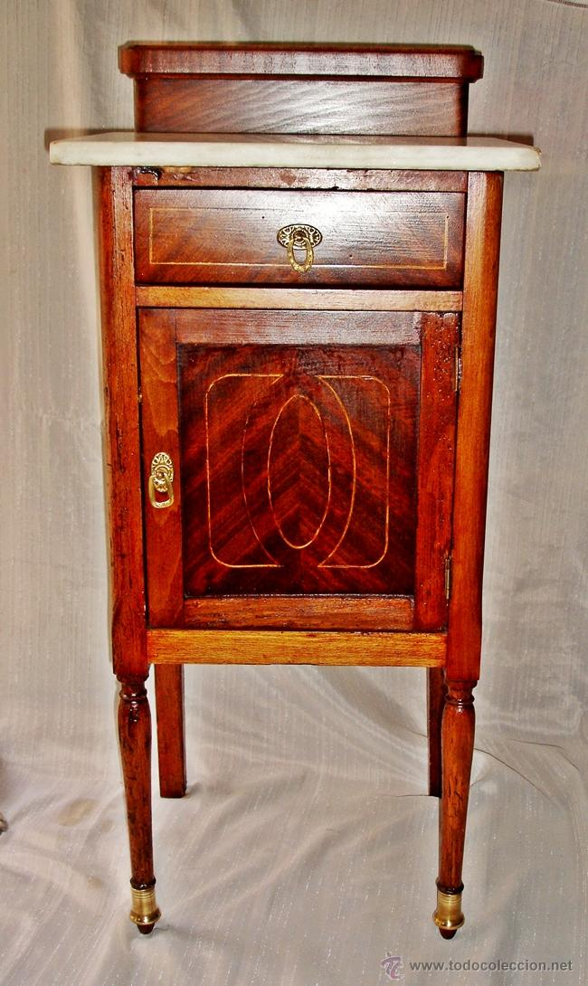 Antigua mesilla de noche tapa marmol comprar muebles - Mesillas antiguas ...