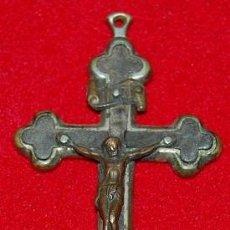 Antigüedades: CRUZ PECTORAL DE BRONCE SIGLO XIX. Lote 54616663