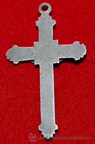 Antigüedades: ANTIGUA CRUZ PECTORAL DE METAL - Foto 2 - 54620583