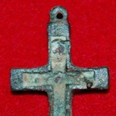 Antigüedades: ANTIGUA CRUZ PECTORAL DE BRONCE SIGLO XVIII. Lote 54620759