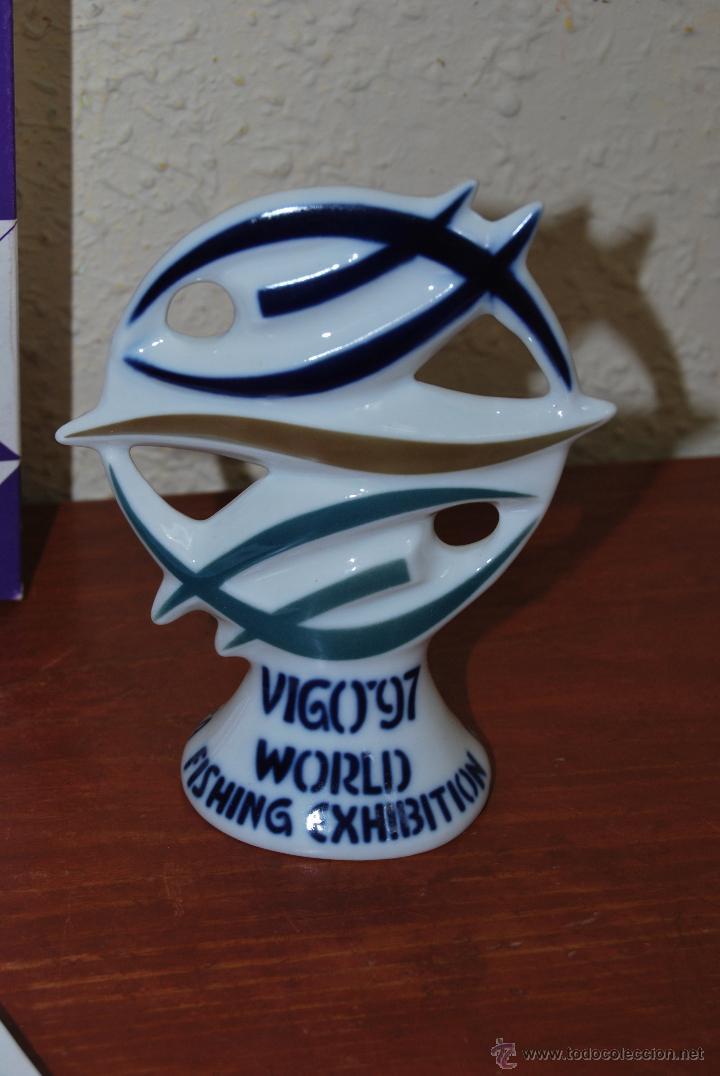 Antigüedades: SARGADELOS - FIGURA EXPOSICION MUNDIAL DE LA PESCA - VIGO 1997 - WORLD FISHING EXHIBITION - Foto 2 - 54626089