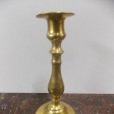 Antigüedades: PORTAVELAS DE BRONCE DORADO. Lote 54636252