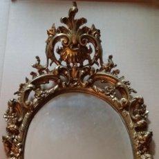 Antigüedades: CORNUCOPIA BRONCE DORADO 88 CM ALTO. Lote 54640185