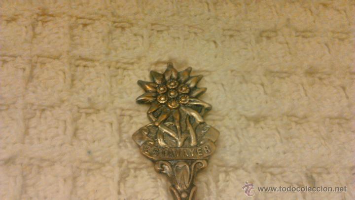 Antigüedades: Preciosa cucharilla bañada en plata,marca versilbert - Foto 2 - 54641131