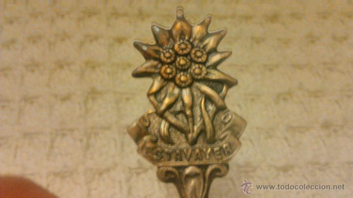 Antigüedades: Preciosa cucharilla bañada en plata,marca versilbert - Foto 3 - 54641131