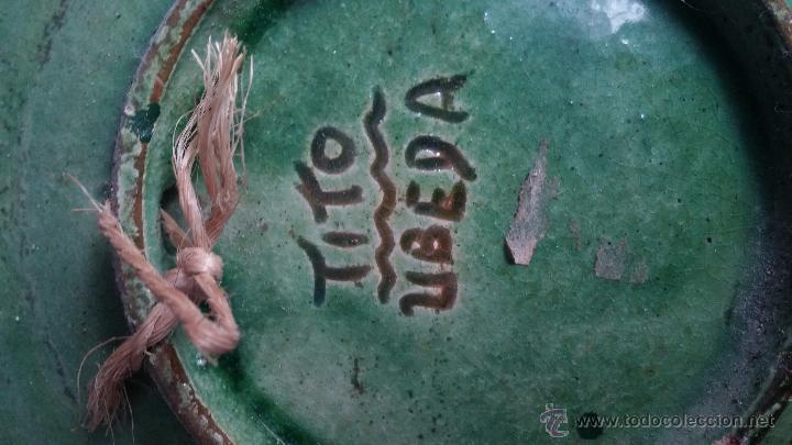 Antigüedades: plato decorativo- tito úbeda - Foto 2 - 54646745